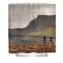 Shower Curtain featuring the photograph Giants Causeway by Ian Middleton