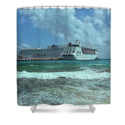 Shower Curtain featuring the photograph Giants Of The Sea by John M Bailey