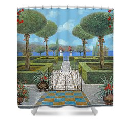 Giardino Italiano Shower Curtain by Guido Borelli