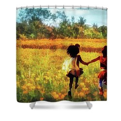 Gia's Field Of Dreams Shower Curtain