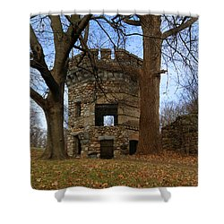 Gibbet Hunting Lodge Tower 1 Shower Curtain