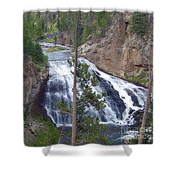 Shower Curtain featuring the photograph Gibbon Falls by Charles Robinson