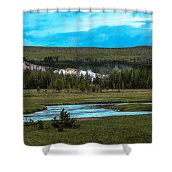 Shower Curtain featuring the photograph Gibbon River Valley by Robert Bales