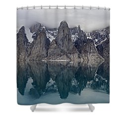 Gibbs Fiord Shower Curtain