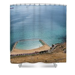 Gibraltar Rock View To The Beach Shower Curtain