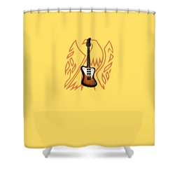 Gibson Firebird 1965 Shower Curtain by Mark Rogan