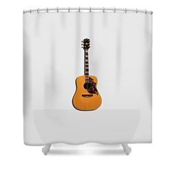 Gibson Hummingbird 1968 Shower Curtain by Mark Rogan