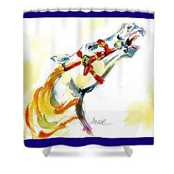 Giddy-up Carousel Horse Head Study Shower Curtain
