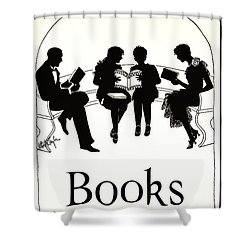 Shower Curtain featuring the photograph Gift Books 1920 by Padre Art