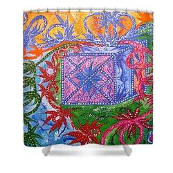 Gift Shower Curtain by Joanna Pilatowicz