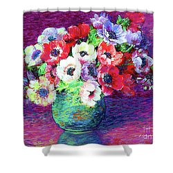 Gift Of Anemones Shower Curtain by Jane Small