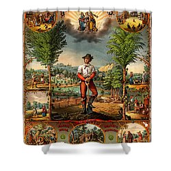 Gift For The Grangers 1873 Victoiran National Grange Agriculture Promotional Art Shower Curtain