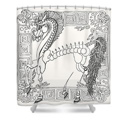 Gift Of The Greeks Shower Curtain by Melinda Dare Benfield