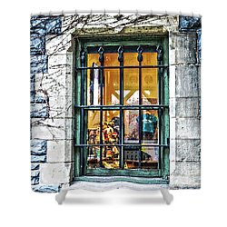Shower Curtain featuring the photograph Gift Shop Window by Sandy Moulder