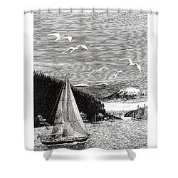 Gig Harbor Sailing School Shower Curtain by Jack Pumphrey