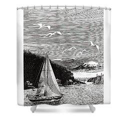 Gig Harbor Sailing School Shower Curtain by Jack Pumphrey