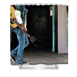 Shower Curtain featuring the photograph Gig Less by Joe Jake Pratt