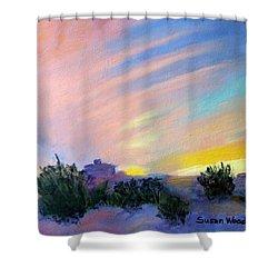 Gila Bend Sunset Shower Curtain