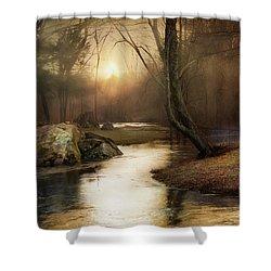 Gilded Woodland Shower Curtain