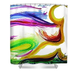 Gimel - Breathe Shower Curtain