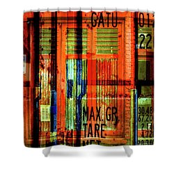 Shower Curtain featuring the photograph Gimmie A Sign by Wayne Sherriff