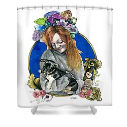 Ginger And Her Lovelies Shower Curtain