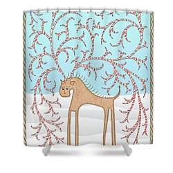 Ginger Cane Shower Curtain