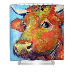 Shower Curtain featuring the painting Ginger Horn by Mary Schiros