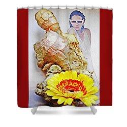 Ginger Man Shower Curtain by Sarah Loft
