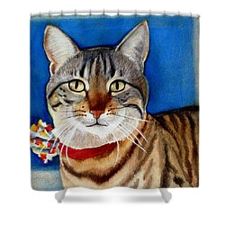 Ginger Shower Curtain by Marilyn Jacobson