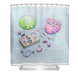 Gari-san And Wasabi-san Enjoy A Lovely Dinner Shower Curtain