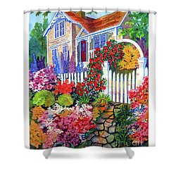 Gingerbread In Bloom Shower Curtain