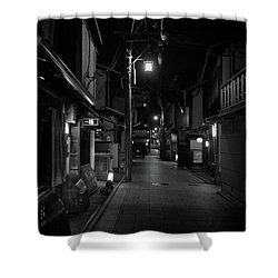 Gion Street Lights, Kyoto Japan Shower Curtain
