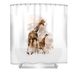 Giraffe And Baby Shower Curtain