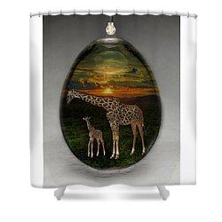 Giraffe Art Shower Curtain