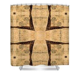 Giraffe Cross Shower Curtain