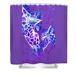 Giraffe Love 515 Shower Curtain by Jane Schnetlage