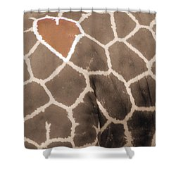 Giraffe Love Shower Curtain