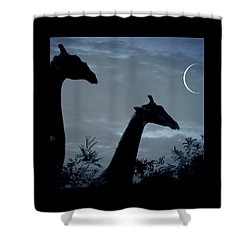 Giraffe Moon  Shower Curtain