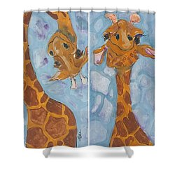 Giraffe Set Shower Curtain