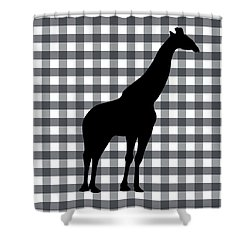 Giraffe Silhouette Shower Curtain by Linda Woods