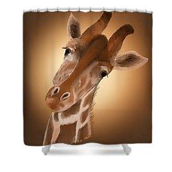 Giraffe Sunset Shower Curtain