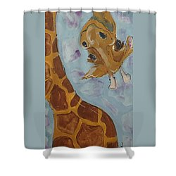 Giraffe Tall Shower Curtain