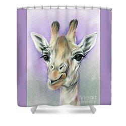 Giraffe With Beautiful Eyes Shower Curtain