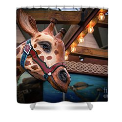 Giraffecarousel Shower Curtain