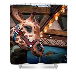Giraffecarousel Shower Curtain by Lisa L Silva