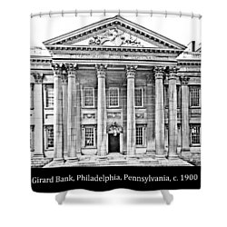 Shower Curtain featuring the photograph Girard Bank Building Philadelphia C 1900 Vintage Photograph by A Gurmankin