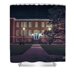 Girard Hall At Night Shower Curtain