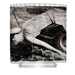 Shower Curtain featuring the photograph Girl #3434 by Andrey  Godyaykin