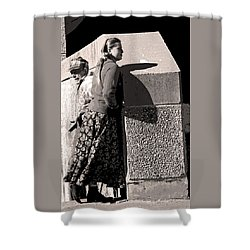 Girl And Dad Shower Curtain